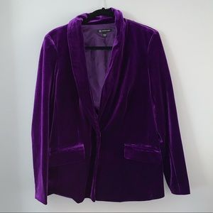 INC blackberry velvet blazer